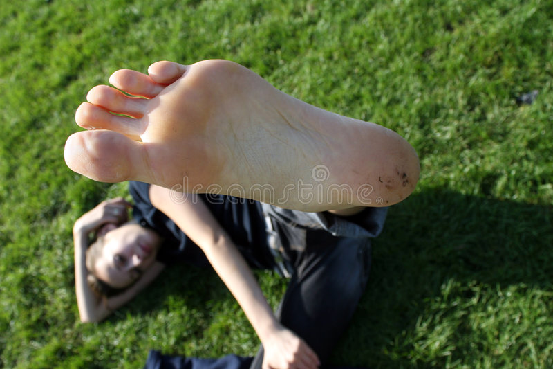Bloße Füße stockfotografie