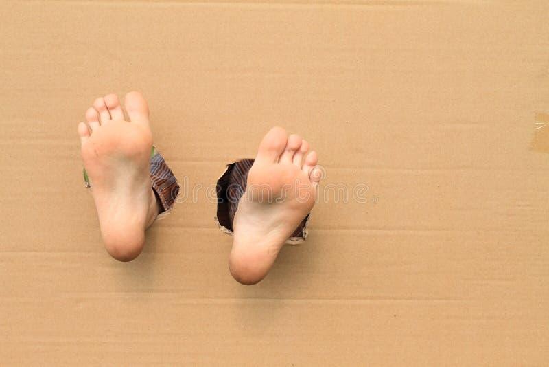 Bloße Sohlen von Füßen stockfotografie
