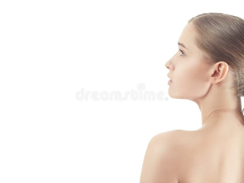 Bloßes Frauenprofil stockfotos