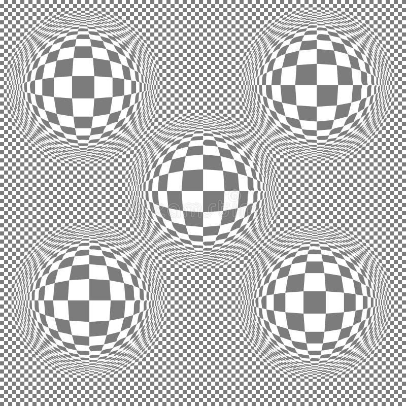 Bloateffect op regelmatige witte en grijze vierkante tegels vector illustratie