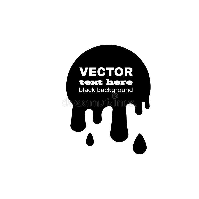 BLOB astratto nero illustrazione vettoriale