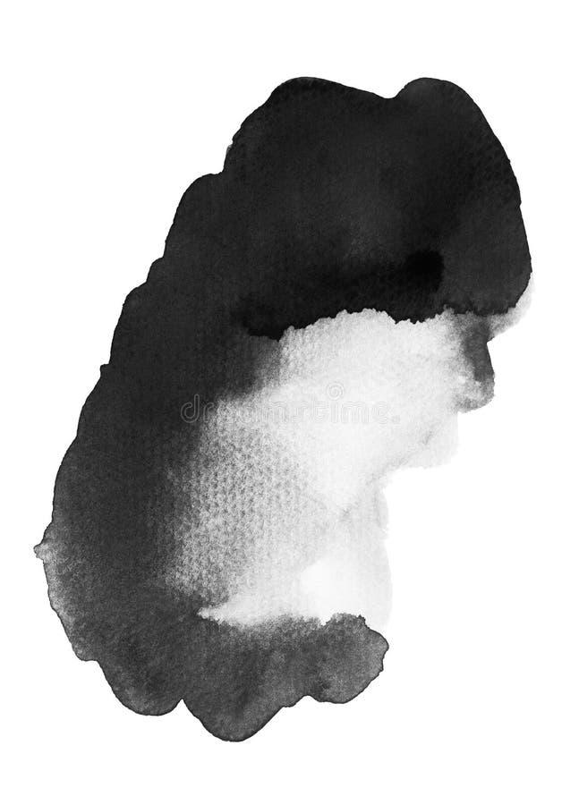 Blob Of Black Watercolor. Handmade illustration of black watercolor vector illustration