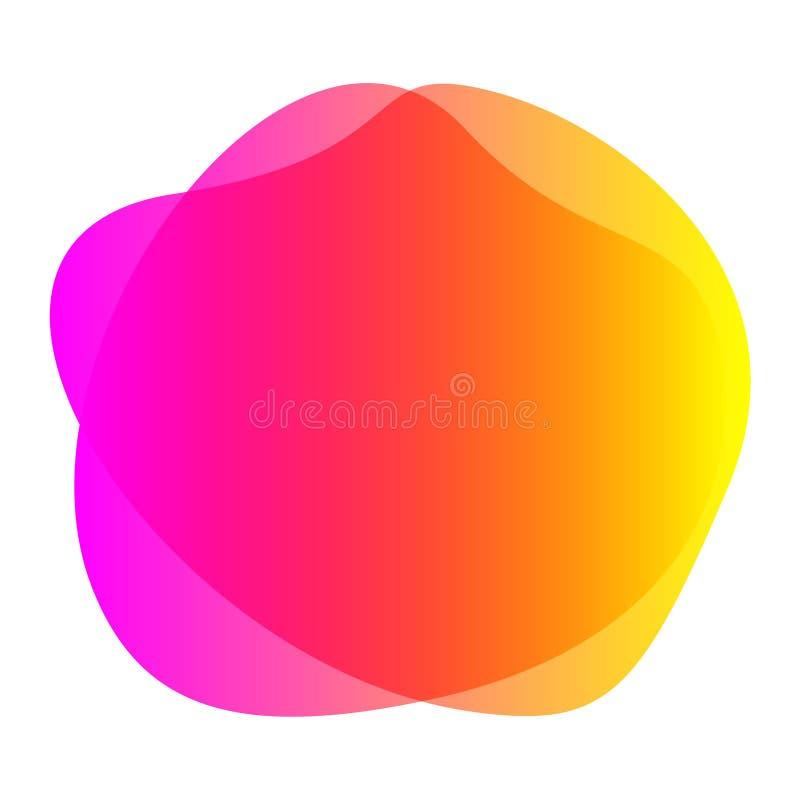 BLOB rosa arancione privo di sfondo, bobina geometrica semplice e a bobina di pennello a macchia liquida per spazio di copia dell illustrazione vettoriale