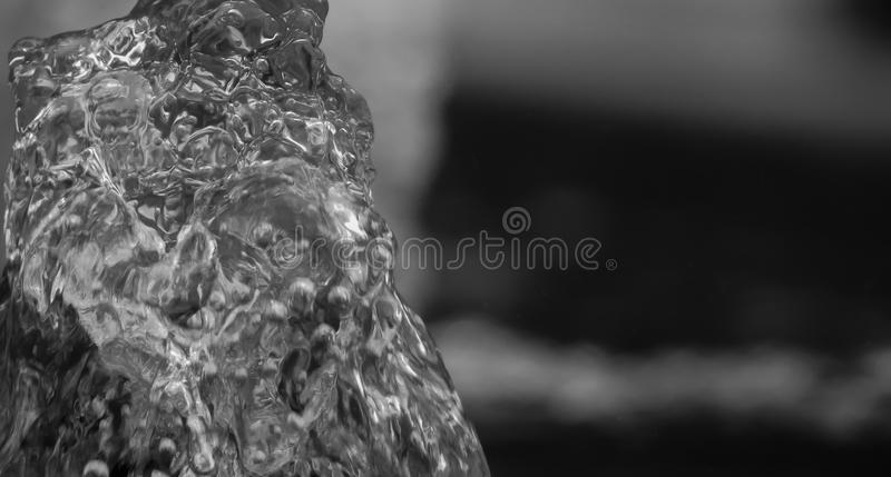 A blob of water from a fountain. Water coming from fountain in italy royalty free stock photo