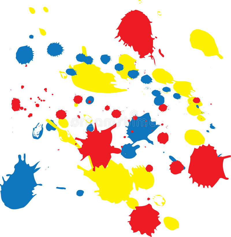 Blobs. Color background with different bright blobs. Colored illustration vector illustration