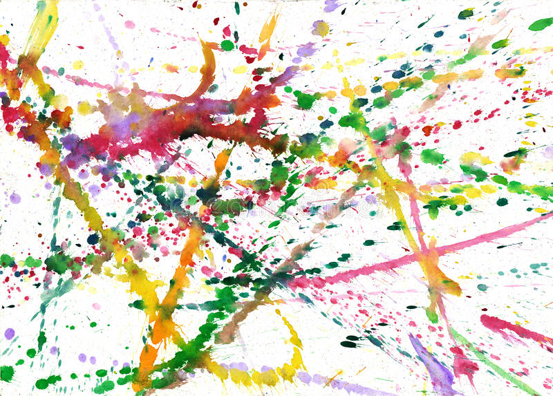 Blobs of paint. Abstract image of the colored blobs of paint on paper royalty free illustration