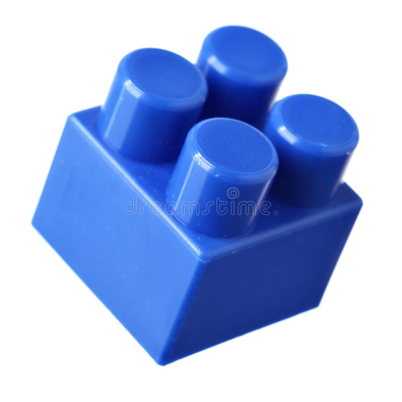 Bloc bleu de meccano images stock