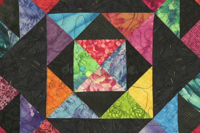 Bloc brillamment coloré d'édredon image stock