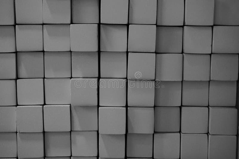 Bloc carré en métal abstrait images libres de droits