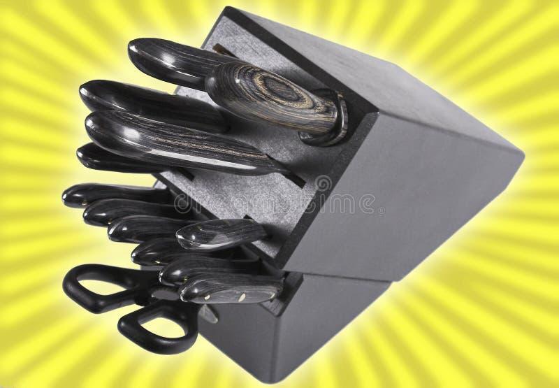 Bloc/couteaux de couteau photographie stock