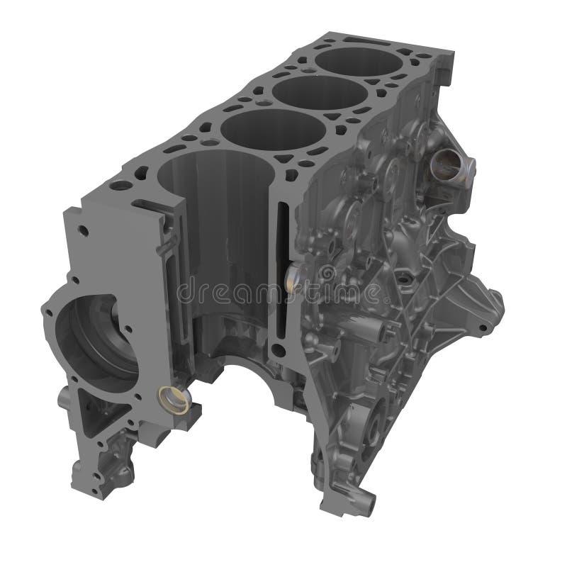 Bloc-cylindres d'un moteur à combustion interne illustration stock