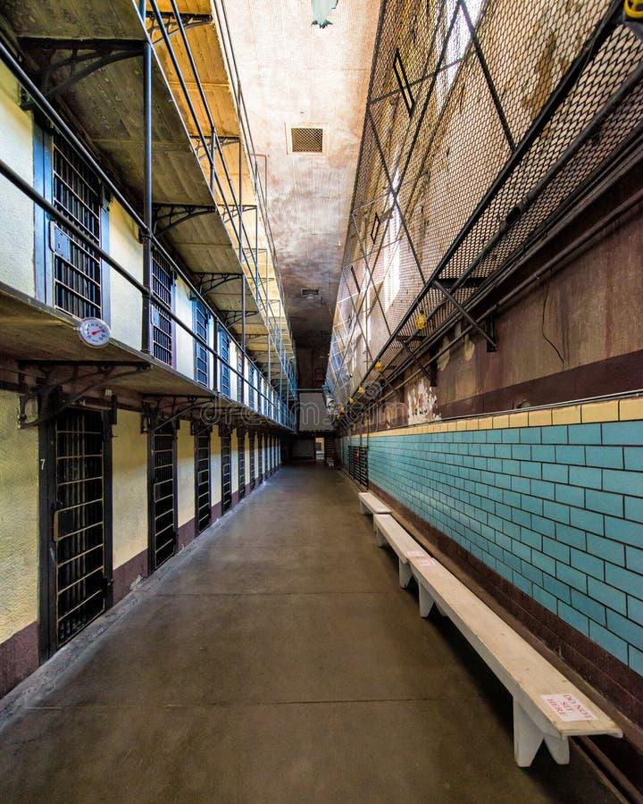 Bloc de cellules de prison image libre de droits
