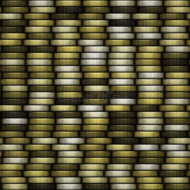 Bloc de fond produit sans couture de texture de pièces de monnaie illustration libre de droits