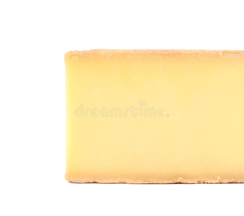Bloc de parmesan photographie stock
