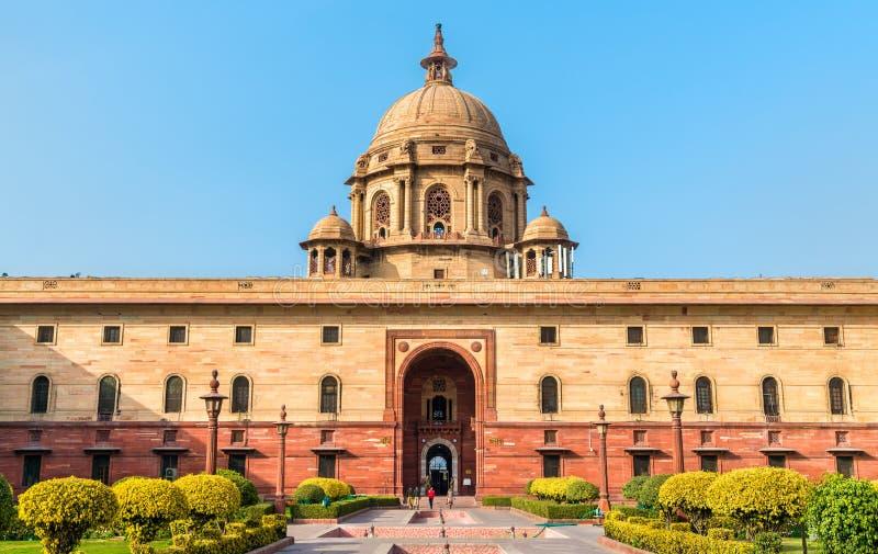 Bloc du nord du bâtiment de secrétariat à New Delhi, Inde photographie stock libre de droits
