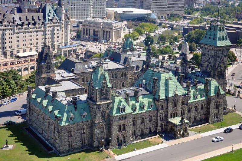 Bloc est de constructions du Parlement, Ottawa image stock