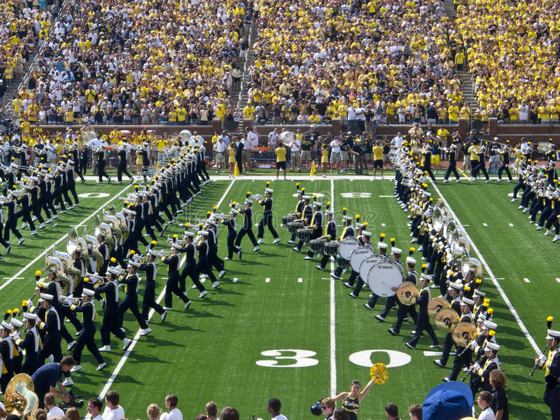 Bloc M de fanfare du Michigan image stock