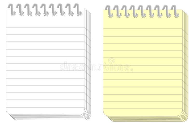 Bloc-notes illustration stock