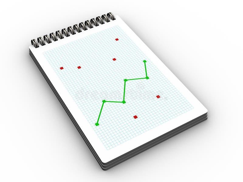 bloc-notes avec le graphique illustration stock