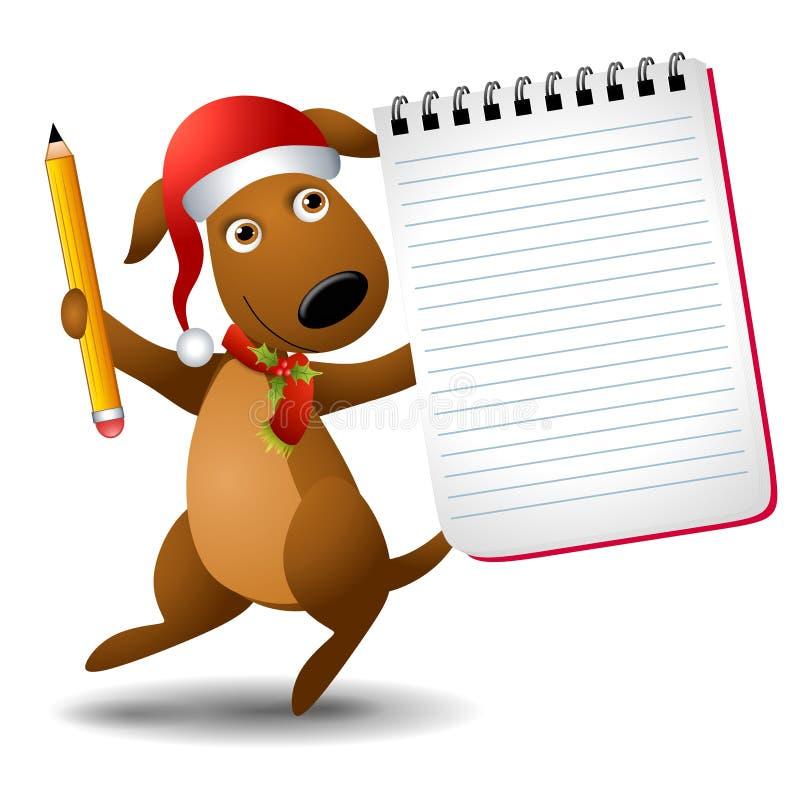 Bloc-notes de fixation de crabot de Noël illustration libre de droits