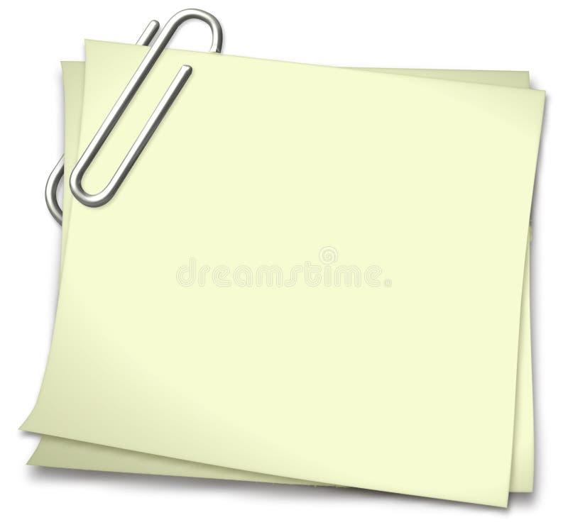 Bloc-notes en jaune illustration stock