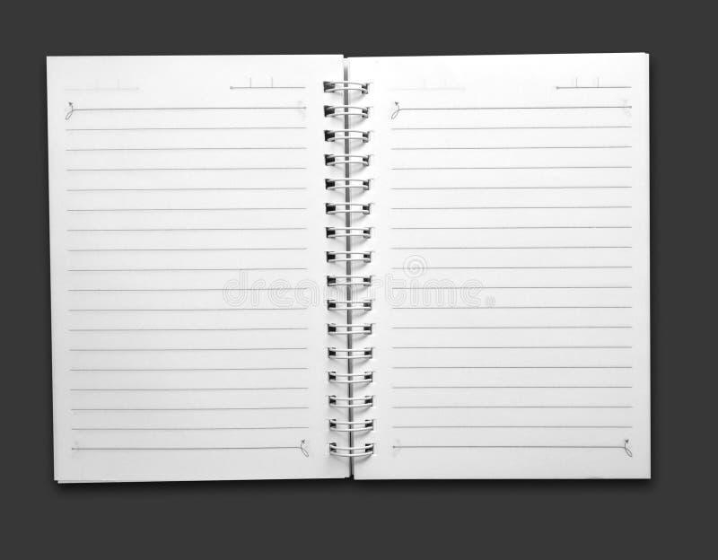 Bloc-notes spiralé photo stock