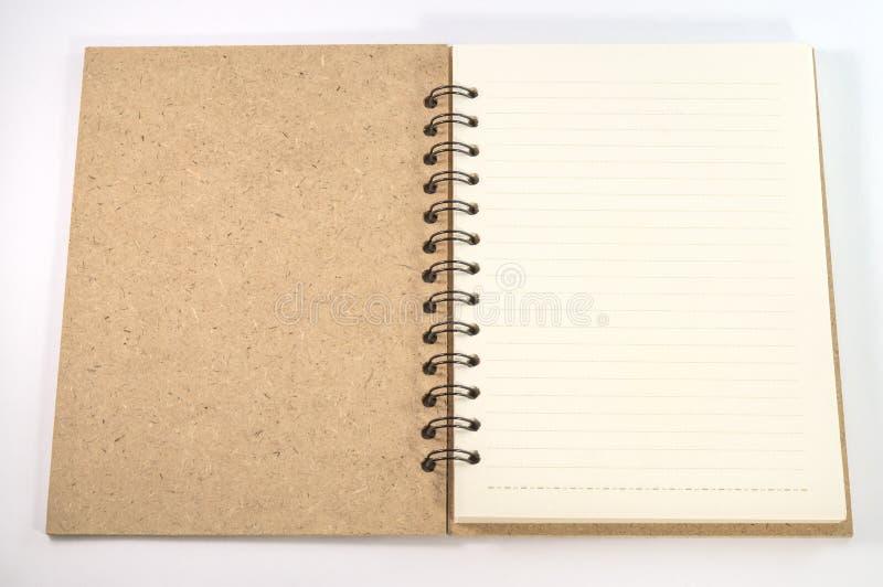 Bloc-notes vide vide sur le blanc image stock