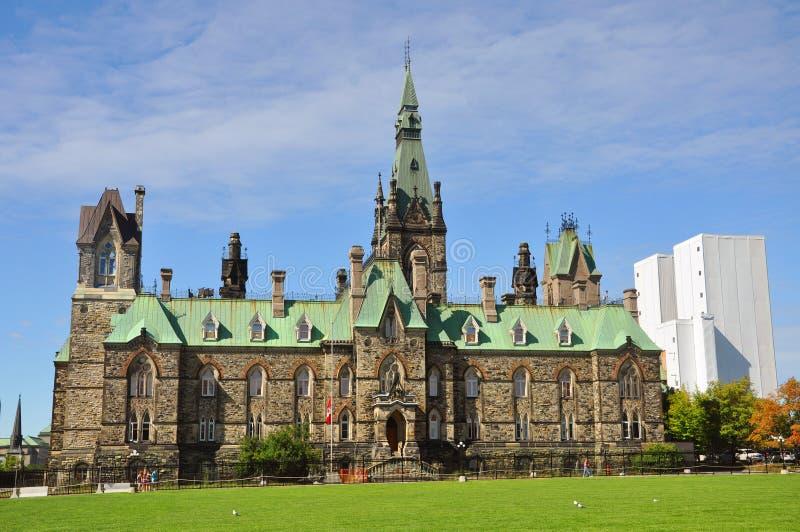 Bloc occidental de constructions du Parlement, Ottawa photo libre de droits