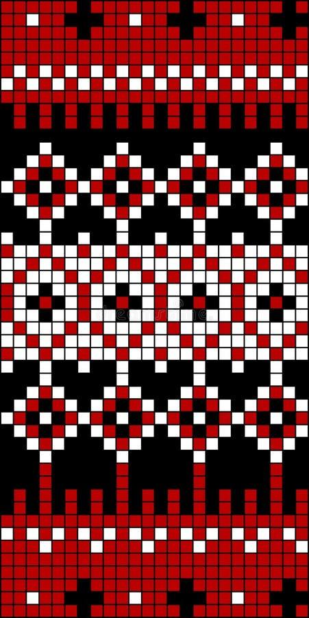 Bloc sans joint 1 de configuration de Knit illustration libre de droits