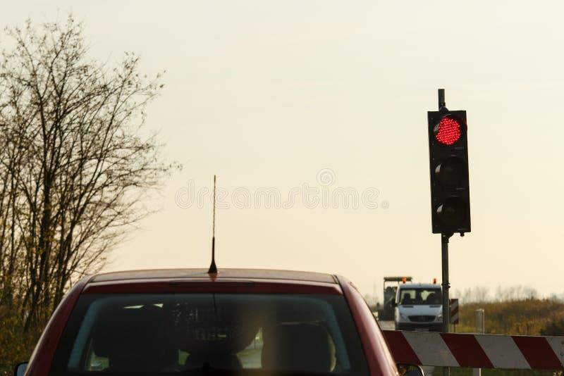 Blocade do trabalho de estrada fotografia de stock