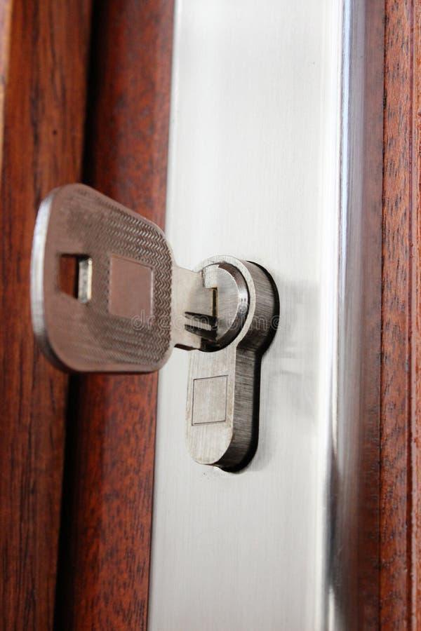 Blocage à la maison et clé image libre de droits