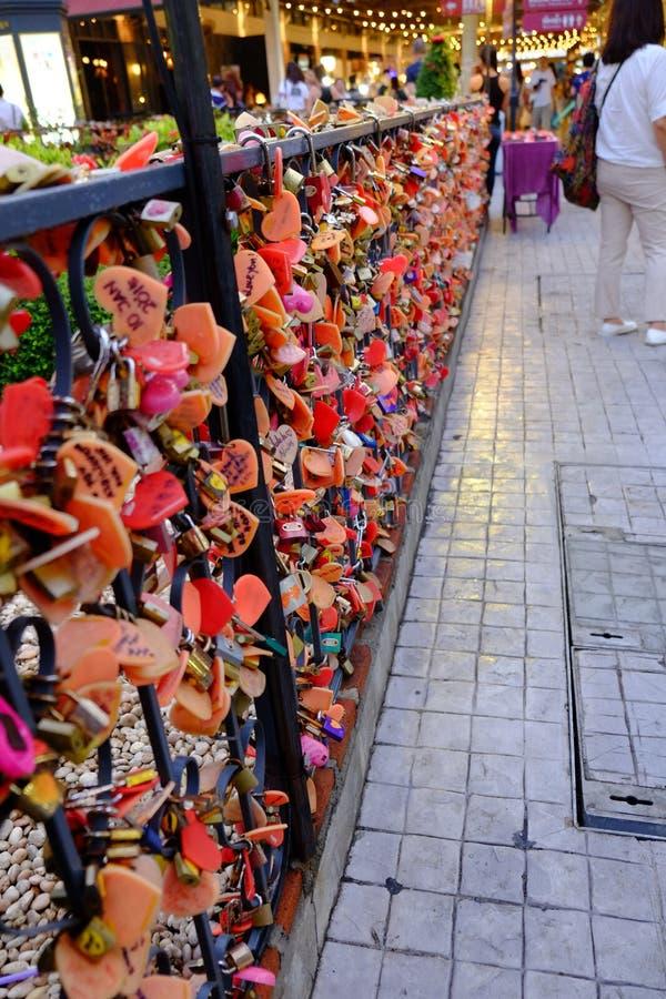 Blocage de l'amour photos stock