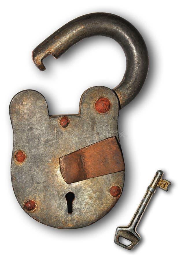 Blocage et clé photo stock