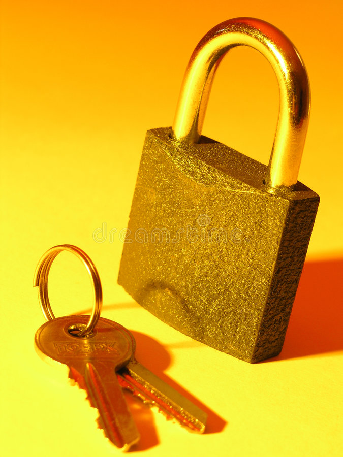 Blocage et clé images libres de droits