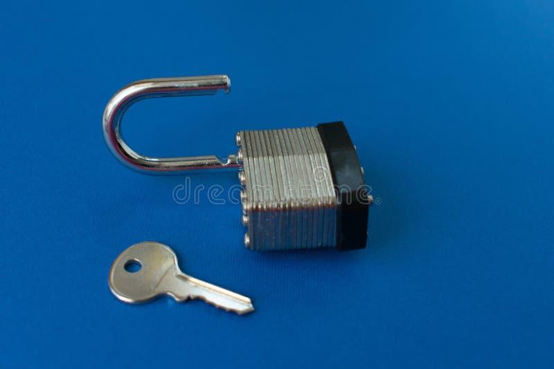 Blocage et clé de trappe photos libres de droits