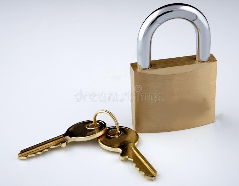 Blocage et clés photo libre de droits