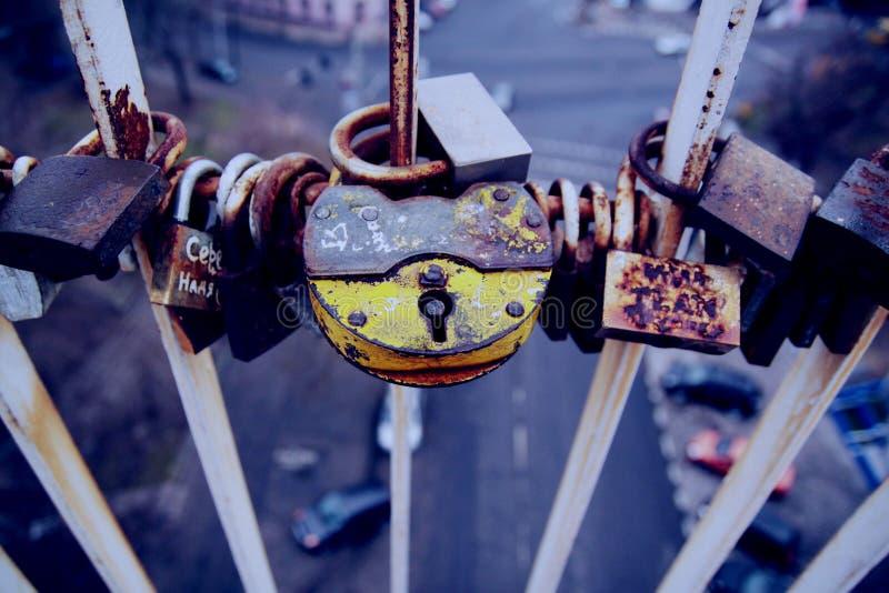 Blocages de l'amour images libres de droits