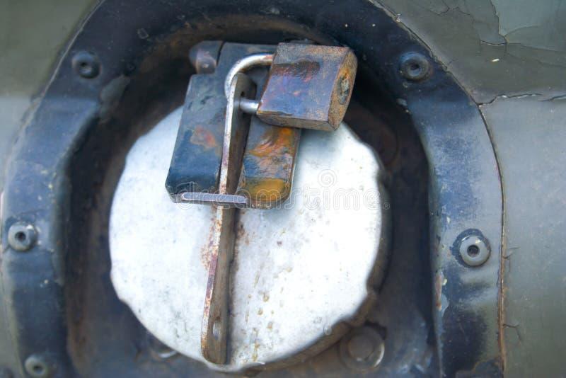 Blocages de réservoir (d'essence). image stock