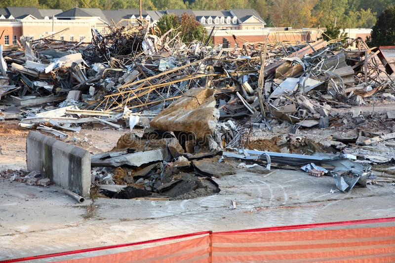 Blocaille de démolition photos stock