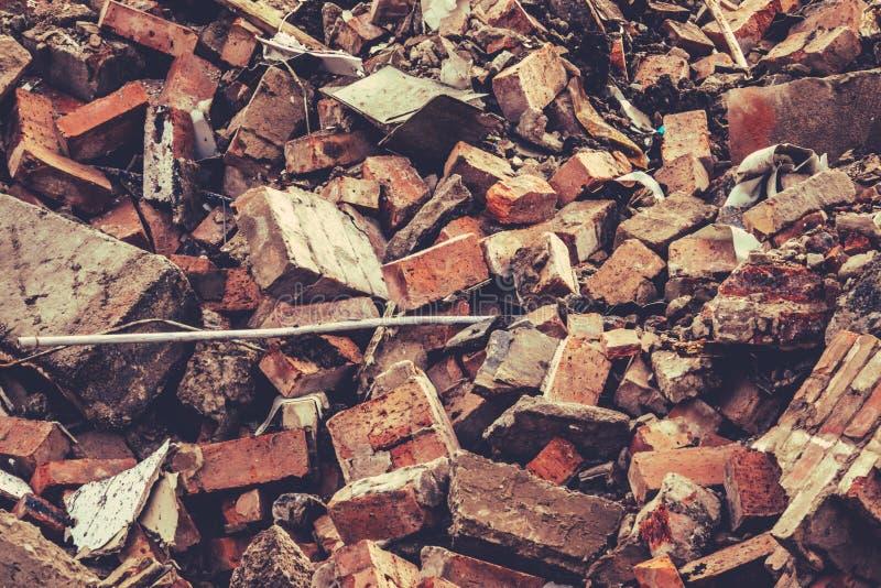 Blocaille de démolition de bâtiment photos stock