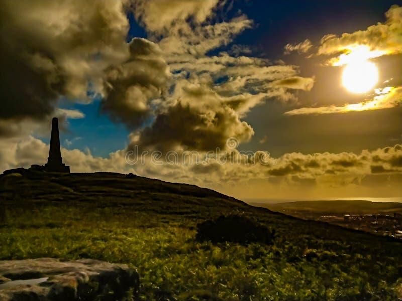 Bloccaggi di tramonto fotografia stock