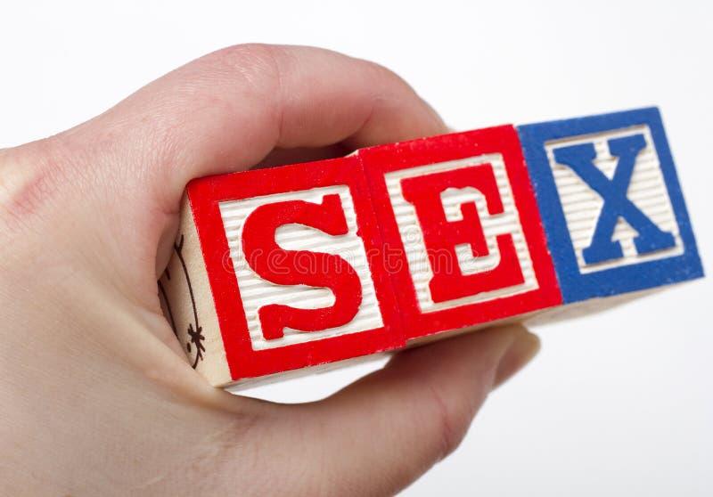 Blocchetti del sesso fotografie stock libere da diritti
