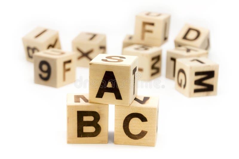 Blocchetti della lettera di ABC immagine stock libera da diritti
