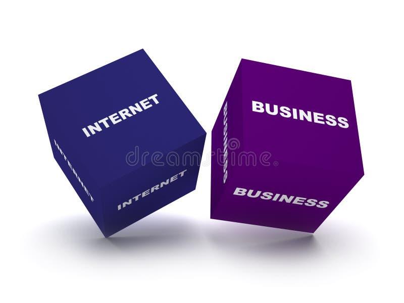 Blocchetti di affari del Internet illustrazione di stock