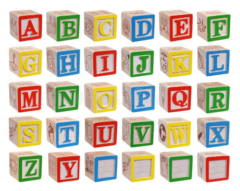 Blocchetti di alfabeto illustrazione vettoriale