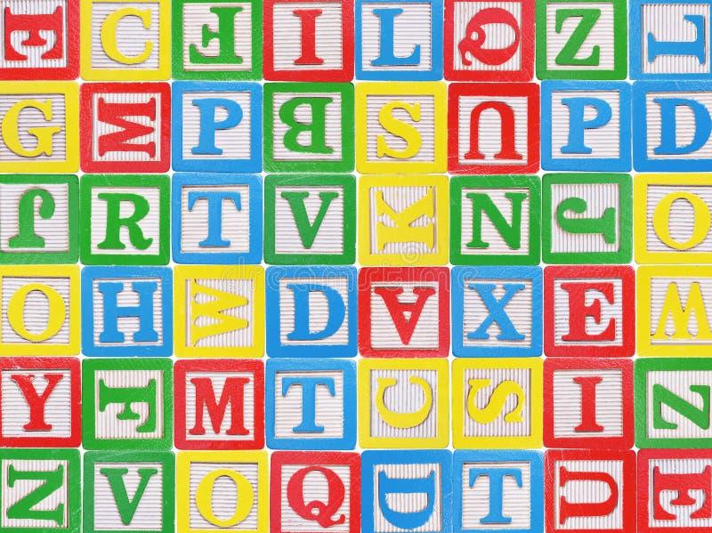 Blocchetti di alfabeto fotografia stock libera da diritti