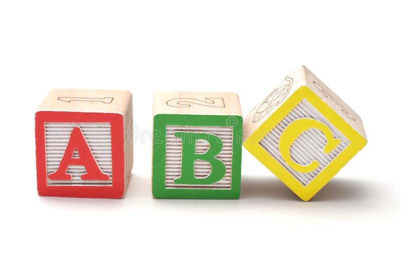Blocchetti di alfabeto fotografie stock libere da diritti