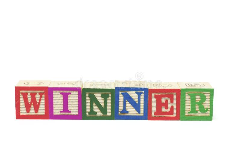 Blocchetti di alfabeto - vincitore fotografia stock libera da diritti