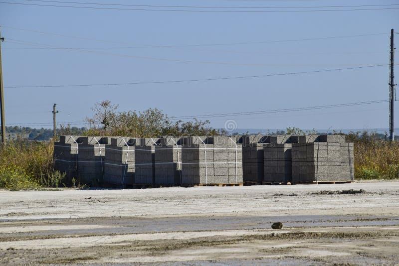 Blocchetti di cenere, che si trovano nelle baie Blocchetto di cenere di stoccaggio immagine stock libera da diritti