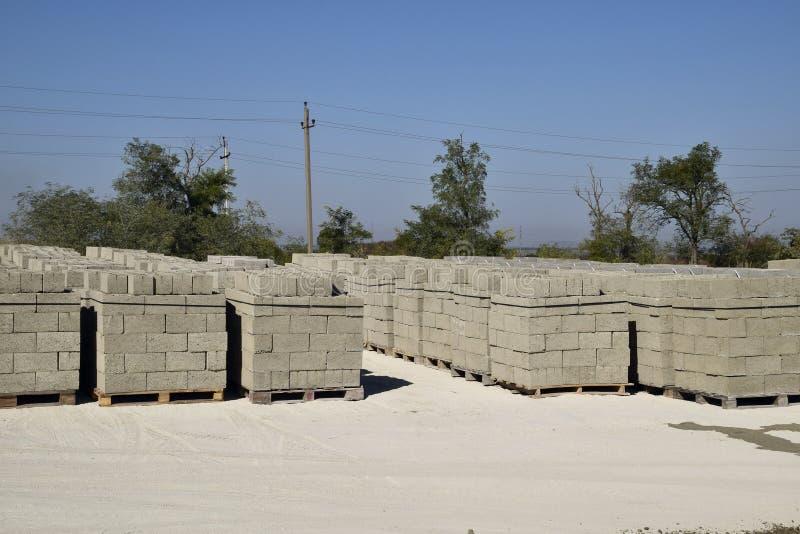 Blocchetti di cenere, che si trovano nelle baie Blocchetto di cenere di stoccaggio fotografia stock libera da diritti